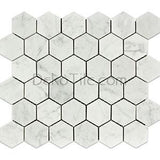 2 inch Hexagon Polished Bianco Carrara Mosaic Tile