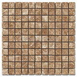 1 x 1 Polished  Emperador Light Mosaic Tile - DEKO Tile