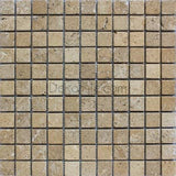 1 x 1 Noce Travertine Mosaic Tile - DEKO Tile