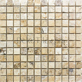 1 x 1 Philadelphia Travertine Tumbled Mosaic Tile - DEKO Tile