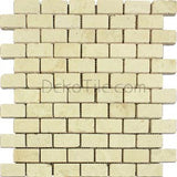 1 x 2 Ivory Classic Travertine Mosaic Tile - DEKO Tile