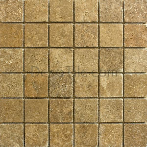 2 x 2 Noce Travertine Mosaic Tile - DEKO Tile