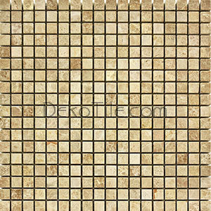 5/8 x 5/8 Polished Emperador Light Mosaic Tile - DEKO Tile