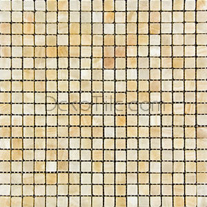 5/8 x 5/8 Tumbled Honey Onyx Mosaic Tile - DEKO Tile