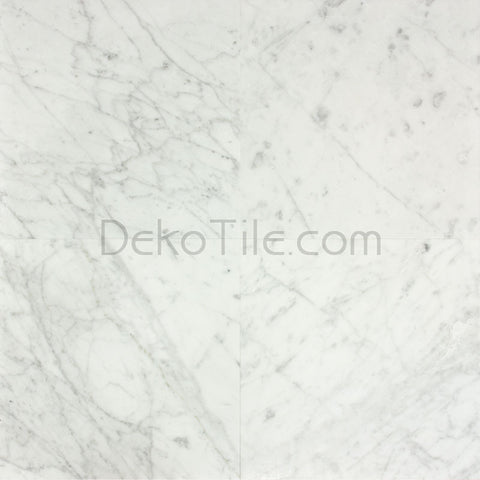 12 x 12 Honed Italian Bianco Carrara Tile - DEKO Tile
