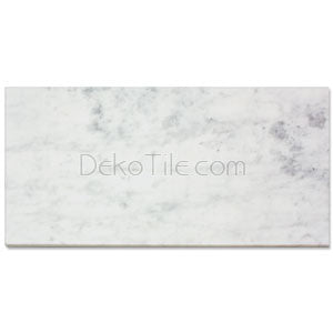 12 x 24 Honed Italian Bianco Carrara Tile - DEKO Tile