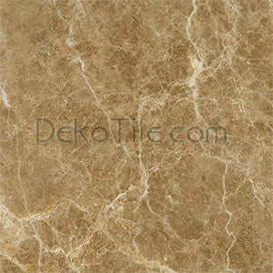 12 x 12 Polished Emperador Light Marble Tile - DEKO Tile