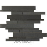 Metro Pattern Polished Gray Basalt Mosaic Tile - DEKO Tile