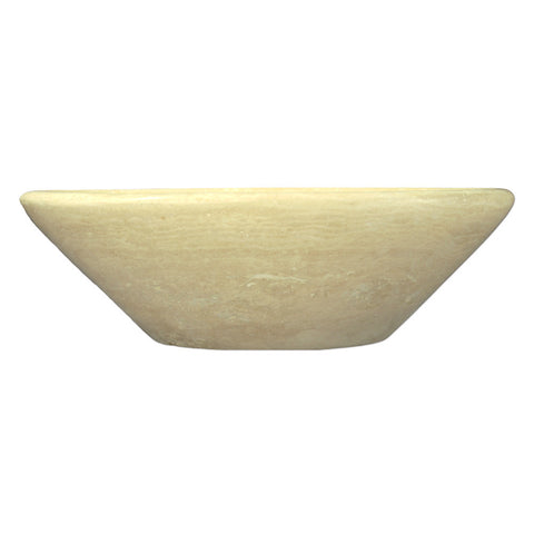 Ivory Classic Travertine Oval Vessel Bowl Sink - DEKO Tile