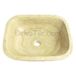 Ivory Classic Travertine Zen Vessel Sink - DEKO Tile