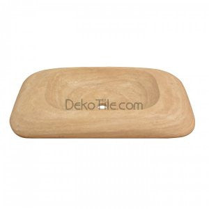 18 x 32 x 5 Beige Metro Sink Travertine  - DEKO Tile