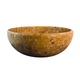 16 Gold Mosaic Vessel Sink Travertine - DEKO Tile