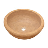 16 Noce Drop-In Round Edge Sink Travertine - DEKO Tile