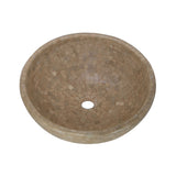 16 Noce Mosaic Vessel Sink Travertine - DEKO Tile