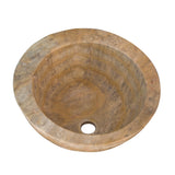 16 Scabos Vessel and Cut Edge Sink Travertine - DEKO Tile
