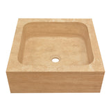 18 Beige Rectangular Drop In Square Edge Sink Travertine - DEKO Tile