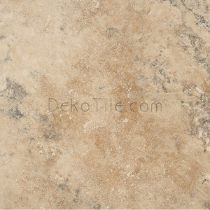 18 x 18 Honed and Filled Rustic Forest Travertine Tile - DEKO Tile