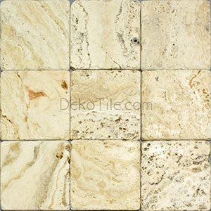 6 x 6 Philadelphia Travertine Tumbled Tile - DEKO Tile