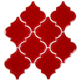 Glass Arabesque Tile (Ruby Red)