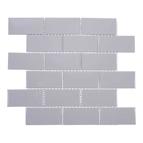 2x4 Porcelain Subway Tile (Light Gray)