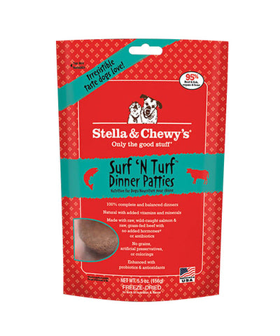 Stella & Chewy's Surf'N Turf Dinner Freeze Dried Patties