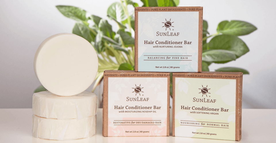 New all-natural hair conditioner bars