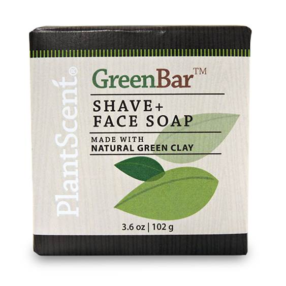 PlantScent® Green Bar Shave & Face Soap