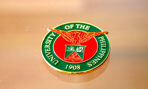 The UP Metal Car Badge