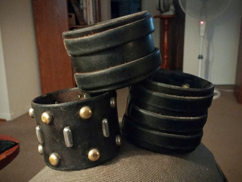 Leatherpunk Cuffs After !0 Years of Wear