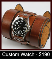 Super wide custom watch cuff