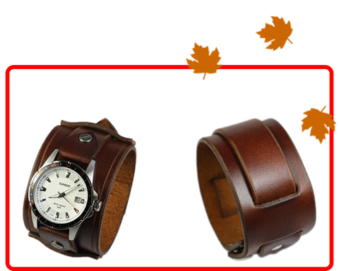 Brown Leather Wristwear