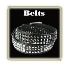 Long lasting studded leather belts
