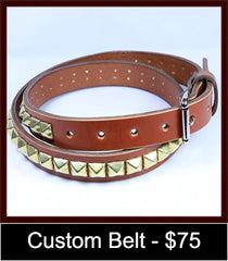 custom brown belt