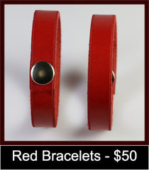 Pair of red bracelets