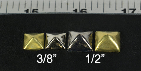 pyramid stud sizes
