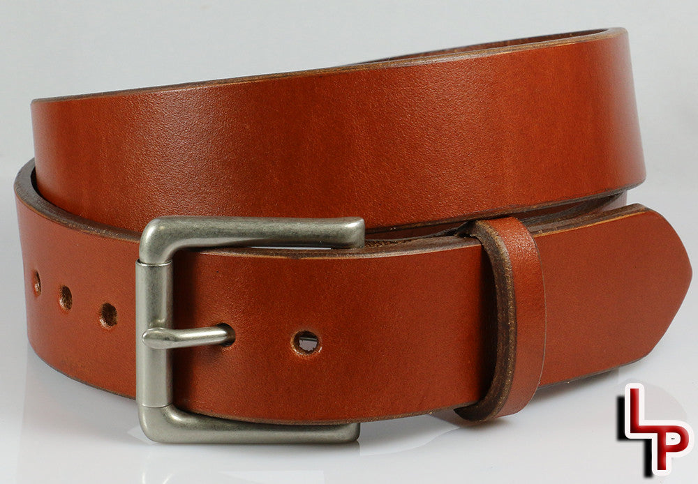 Chestnut Brown Leather Belt