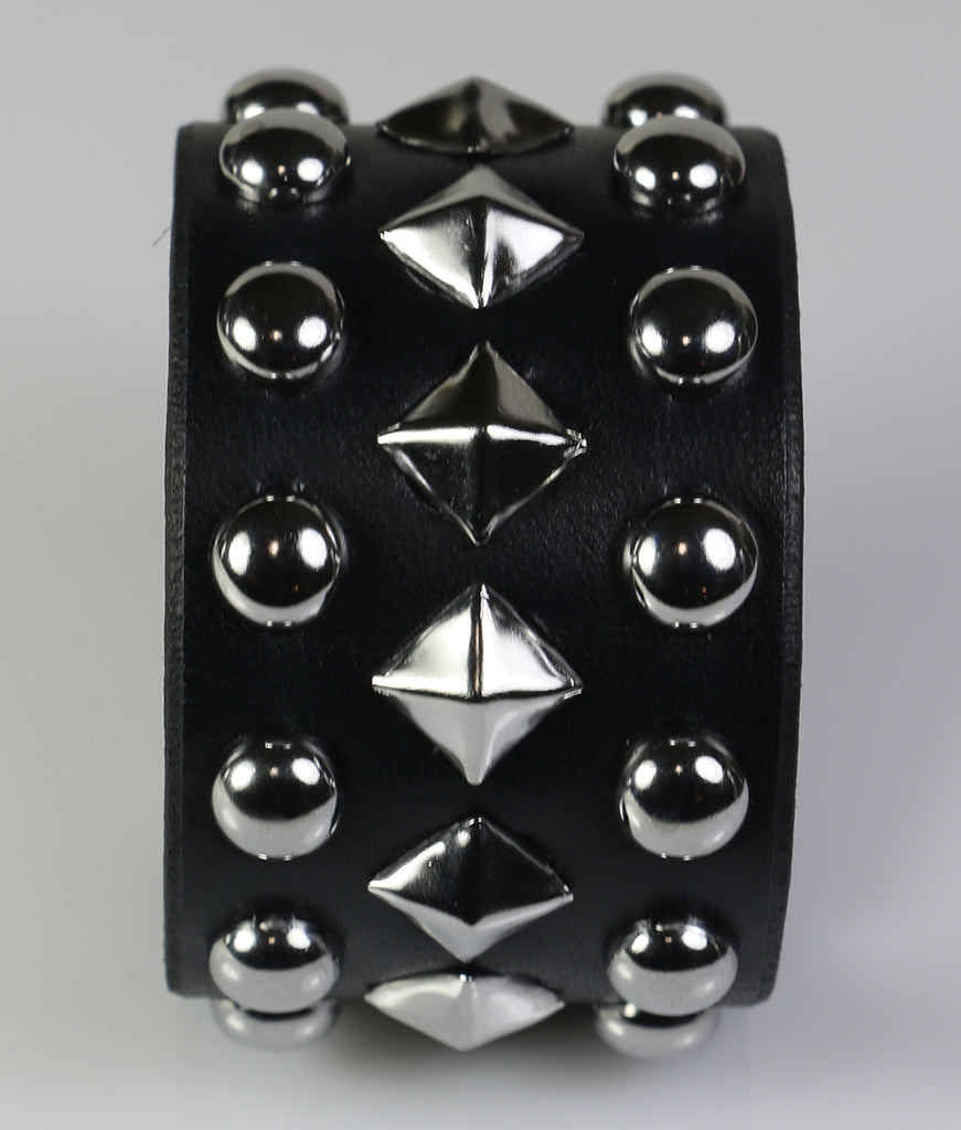 Dome and Pyramid Studded Wristband
