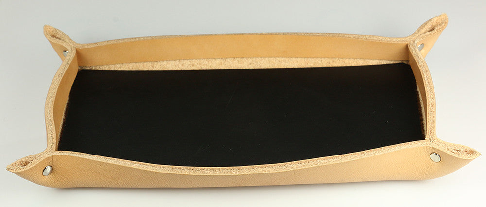 Leather Tray, Natural