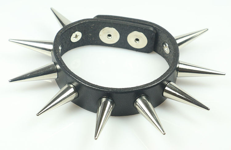 "Cone Spiked Bracelet 1"" Spikes"