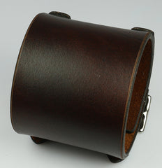 Brown Buckling Leather Cuff