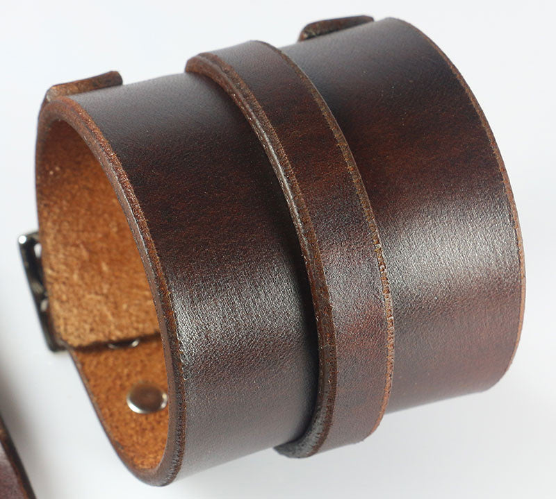 Brown Leather Wristband Johnny Depp Replica