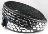 3 Row Studded Hexagon Belt