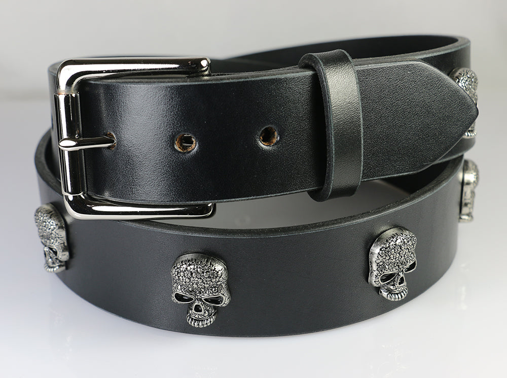 "Skull Stud Belt, 1.5"" with Removable Buckle"
