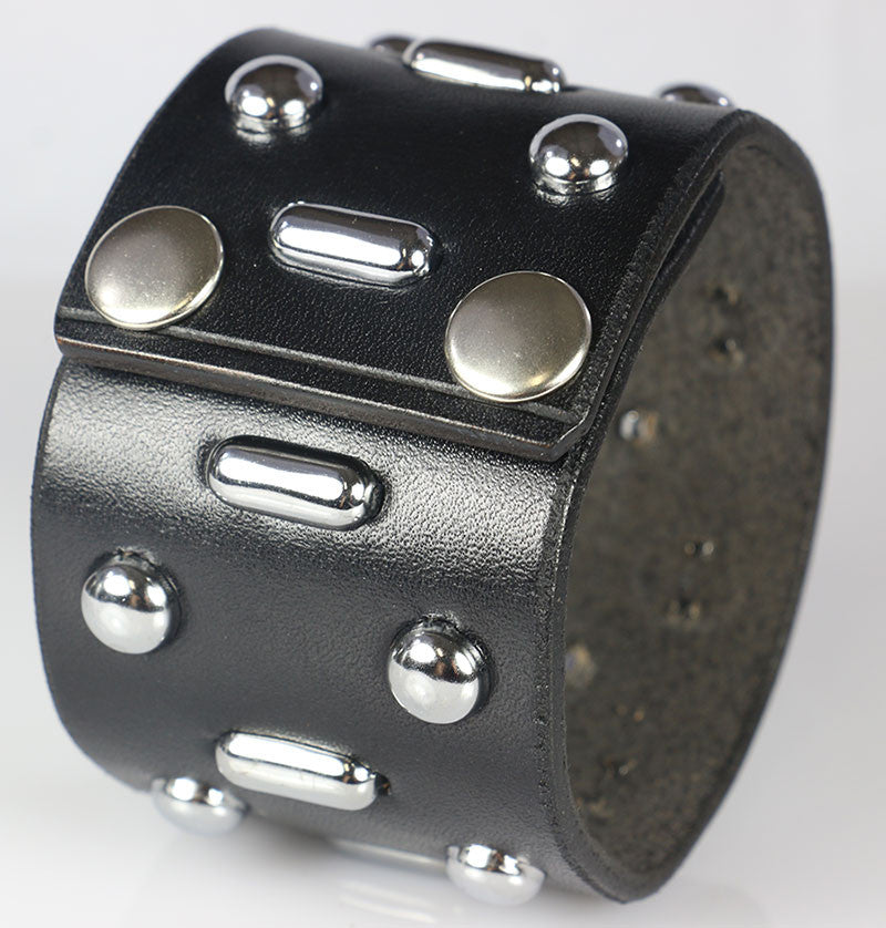 Hunter Thompson, Johnny Depp Oblong Studded Leather Cuff