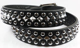 Dome/Pyramid Studded Leather Belt