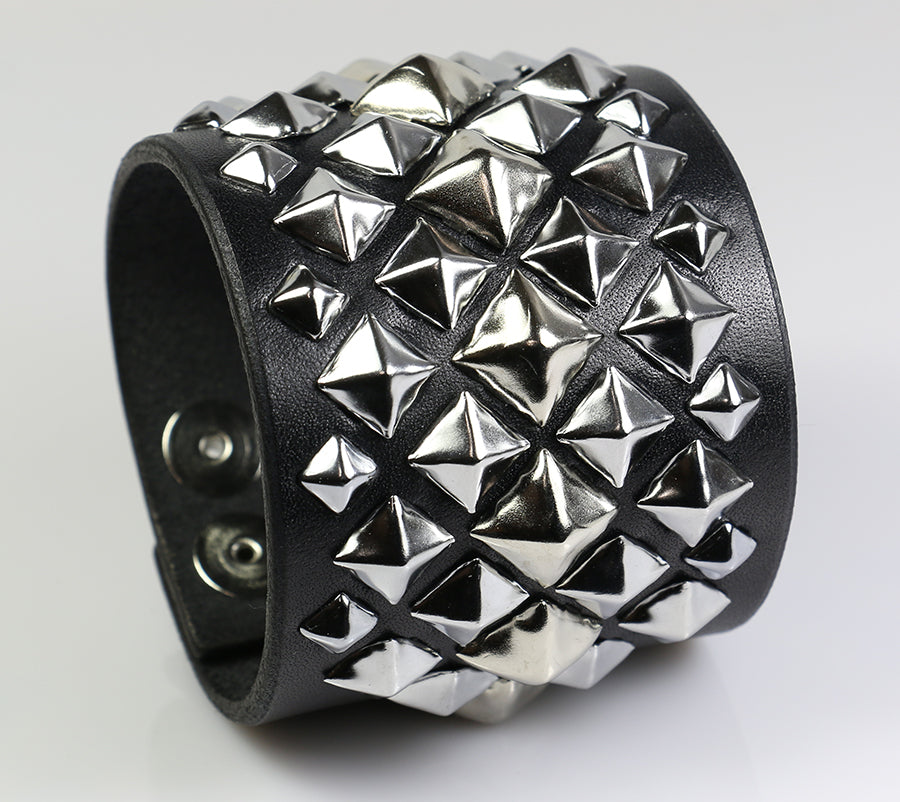 Pyramid Supreme Studded Leather Wristband