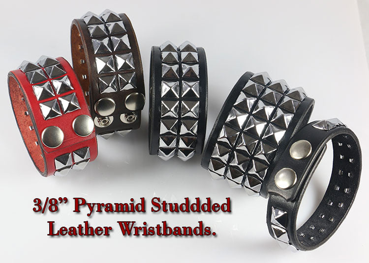 Choose how many rows on your studded wristband