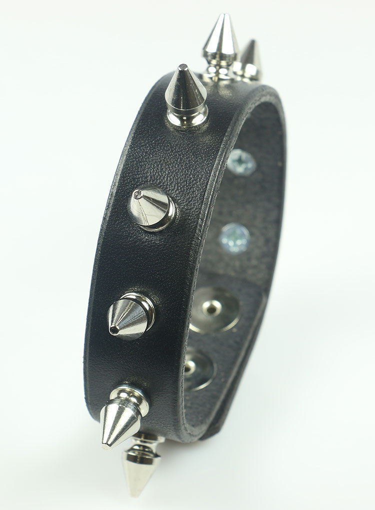 Tree Spiked Leather Bracelet