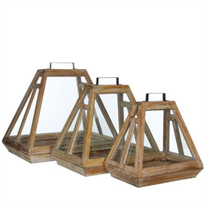 Seren Wood Terrarium Set of 3 - armchairmuse.com - 1