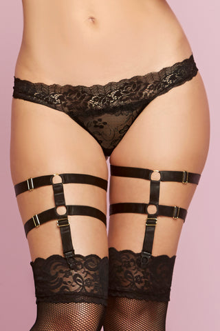 Satin Leg Harness